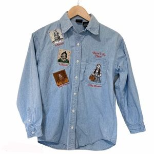 Vintage Warner Bro's Wizard of Oz jean shirt small